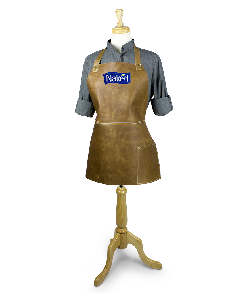Leather Apron Embroidery Short Bar On Mannequin
