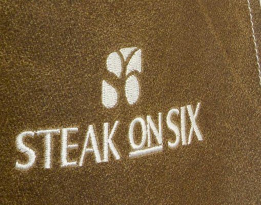 Leather Apron Embroidery Steak On Six Logo