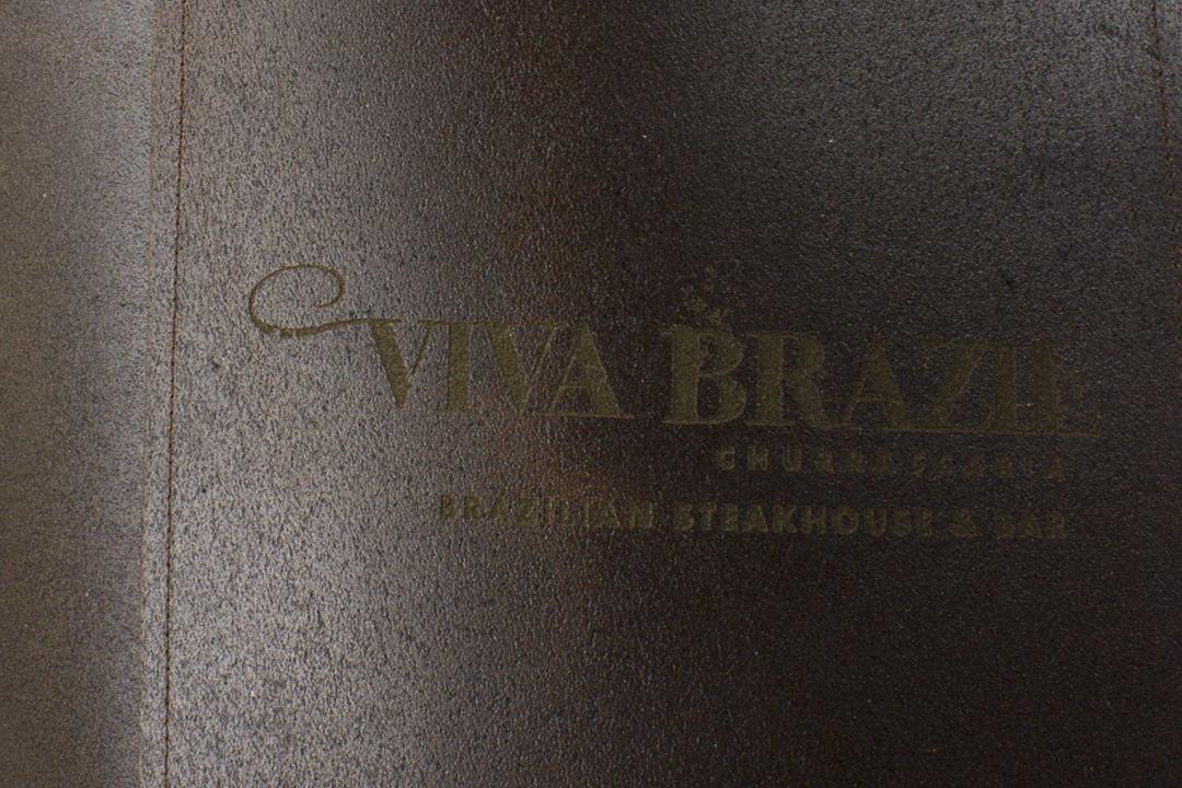 Viva Brazil Leather Apron Laser Branding Logo