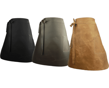 Long Leather Waist Apron