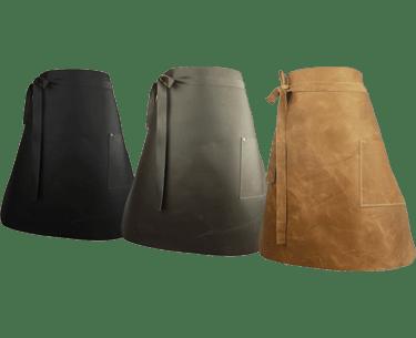 Long Leather Waist Apron