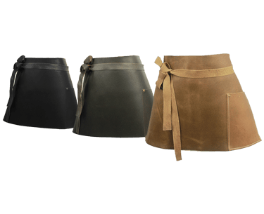 Short Leather Bar Apron