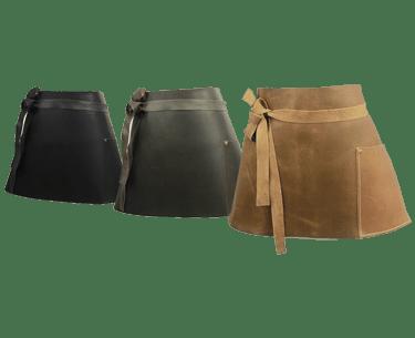 Short Leather Bar Apron