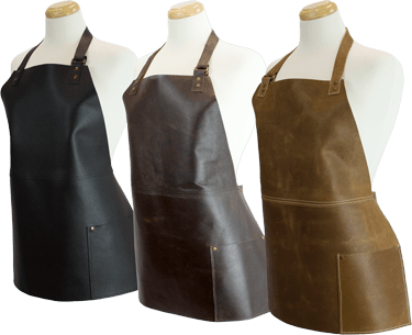 Short Leather Bib Apron