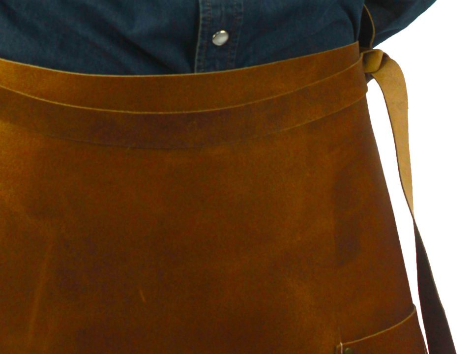 Long leather waist apron ties