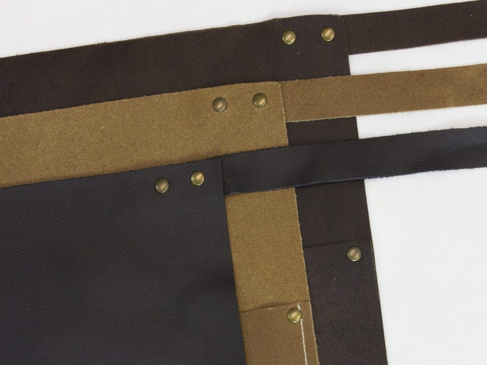 Short Leather Bar Apron Colours